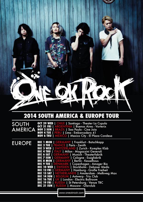 one ok rock eu tour 2014