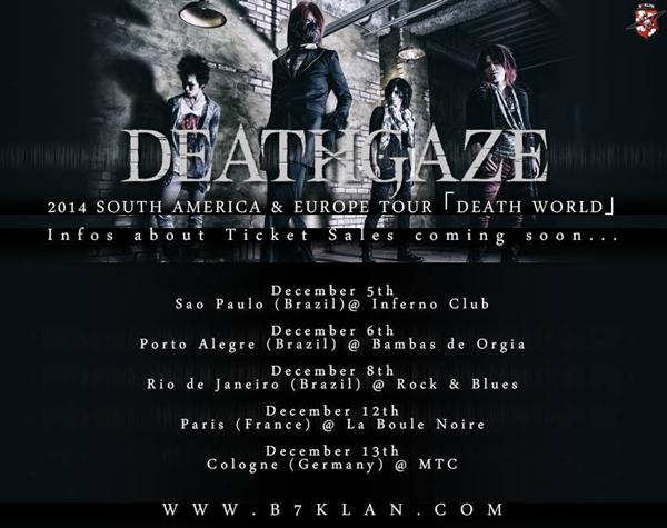 deathgaze death world tour