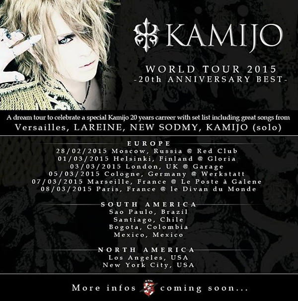 kamijo world tour 2015
